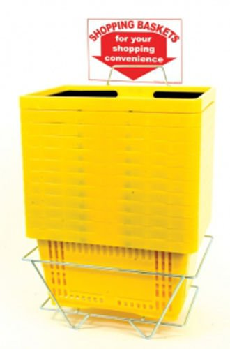 12 Standard Size Yellow Shopping Baskets With Plastic Handles by shopping basket