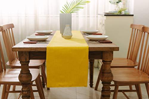 (NATUS WEAVER Dining Table Runner 12 x 72 inches Christmas Living Room Dinner Wedding Birthday Party Burlap Rustic Table Runner, Bright)