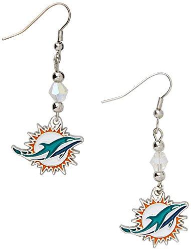 Siskiyou NFL Miami Dolphins Crystal Dangle Earrings