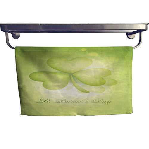 Sports Ttowel Happy St Patrick s Day Celebration with Shamrock Leaf Towel W 12