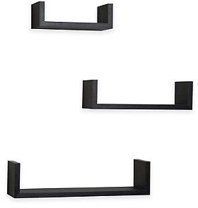 Danya B™ Floating U laminated Shelves (Set of 3) - BedBathandBeyond.com