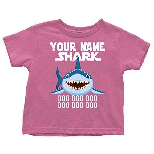Official VnSupetramp Baby Shark Toddler T-Shirt Personalized Name Birthday Gift (3T, GRASPBERRY)