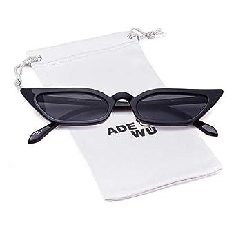 ADEWU Gafas de sol ojo de gato Gafas rectangulares vintage Mujeres niñas