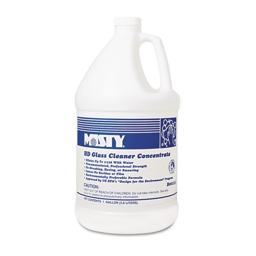 Misty Heavy Duty Glass Cleaner Concentrate, Floral, 1 gal. Bottle - four bottles.