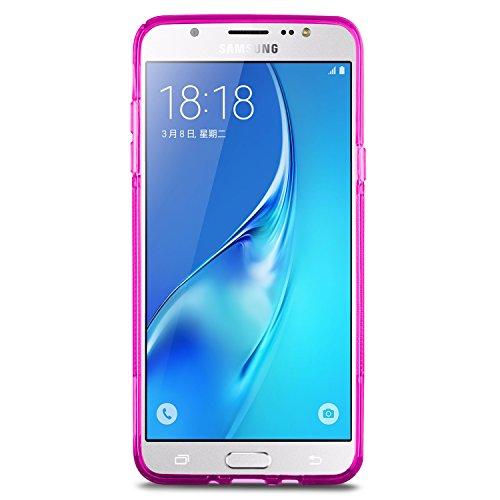 SLEO Funda para Samsung Galaxy J5 (2016) Slim Fit TPU Carcasa de Parachoques Case Traslúcido Suave con Absorción de Impactos y Resistente a los Arañazos para Samsung Galaxy J5 (2016) - Rosa Rosa