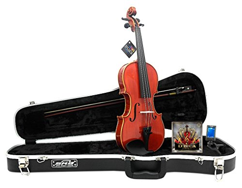 D'Luca PROV-CA400-12 Strauss 400 Concerto Violin 1/2 with SKB Molded Case, Strings and Tuner