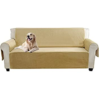 yemyhom real nonslip pet dog sofa covers protectors with waterproof flannel fabric loveseat