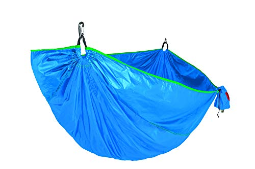 Grand Trunk One Made Double Hammock and Tree Sling Kit: Portable Total Hammock Kit - Perfect for Outdoor Adventures, Camping, and Festivals, Caribbean Blue - Made in The USA