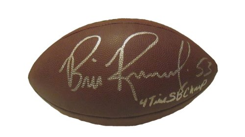 Bill Romanowski Autographed Hand Signed NFL Wilson Football with 4-Time SB Champ Inscription and Proof Photo of Signing, Denver Broncos, San Francisco 49ers, COA