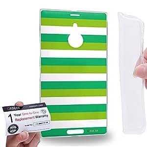 Case88 [Nokia Lumia 1520] Gel TPU Carcasa/Funda & Tarjeta de garantía - Art Design Stripe St Patrick Art2090