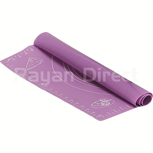 Purple Nonstick Large Silicone Pastry Baking Sheet Liner Roll Cut Mat with Measurements