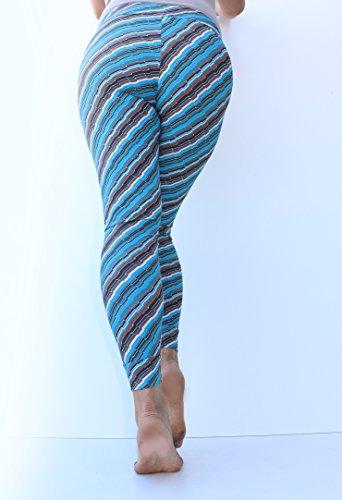 Maternità Leggings stampa in diagonale, sotto pancia maternità Leggings, Blu e Marrone, maternità vestiti, Non vedere attraverso maternità, Yoga Leggings black and beige XL