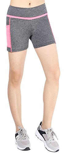 Munvot - Medias deportivas - para mujer Gray/Pink(Shorts)