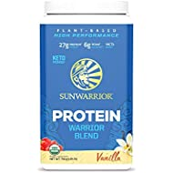 Sunwarrior Warrior Blend, Organic Vegan Protein Powder with BCAAs and Pea Protein (Vanilla, 30 Servings)