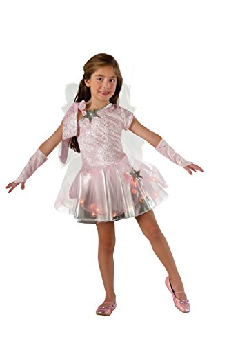 Rubie's Costume Wishing Fairy Light-Up Child Costume, (Childrens Silver Star Costume)