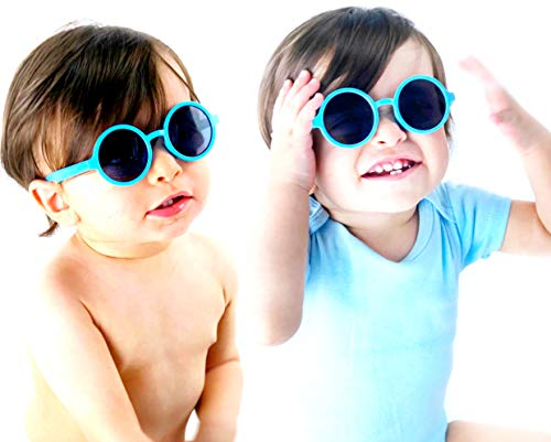 Kd3008 Baby Infant Toddlers Age 0~36 Months Round Retro Sunglasses (2-pack Baby -
