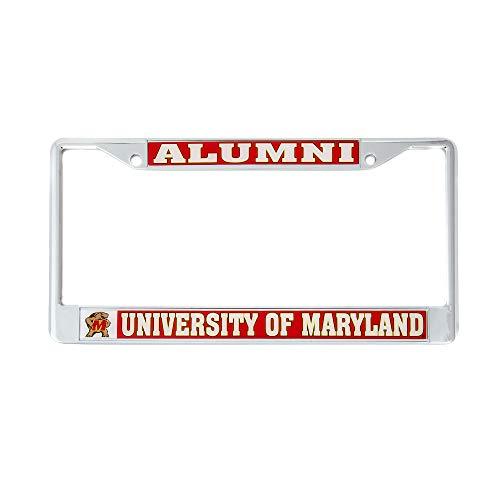 University Frame License Plate (Desert Cactus University of Maryland Alumni License Plate Frame for Front Back of Car Officially Licensed Terrapins UM)