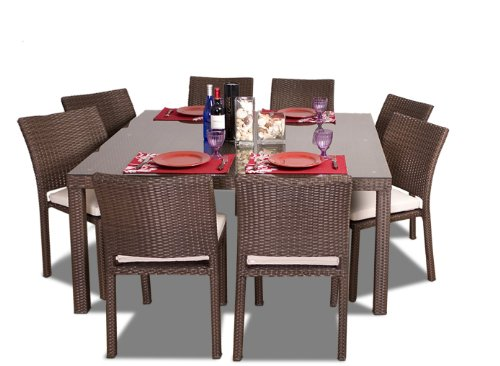 POLYWOOD PWS107-1-WH Long Island 5-Pc. Dining Set, White