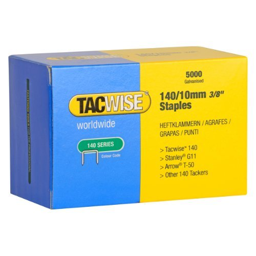 Tacwise 140 Series 10mm Heavy Duty Staples (5000 Pieces) by Tacwise
