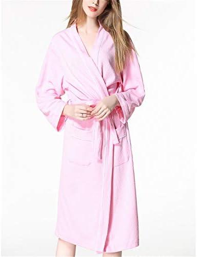 Kimono Batas Algodón Ligero Bata Corta Tejido Albornoz Ropa de Dormir Suave con Cuello en V para,Par Suave algodón Rosa Ribete S: Amazon.es: Hogar