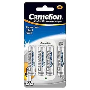 ZXM cargador estándar para Camelion pila aa / aaa con baterías recargables 4pcs 800mah alwaysready ni-mh aaa