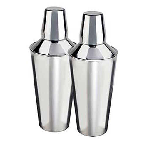 nu steel TG-CS-2/2 MINI COCKTAIL SHAKER S/2, Shiny