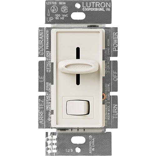 Lutron Electronics S-603PH-LA 3-Way Slide Dimmer, Preset Feature, 600-watt, Light Almond