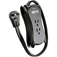 Tripp Lite 3 Outlet Portable Surge Protector with 2 USB Charging Ports (2.1A total), 18 in. Cord (TRAVELER3USB)