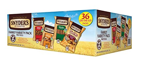 Snyder's of Hanover Pretzels Variety Pack, 4 Flavors, 36 Single-Serve Bags