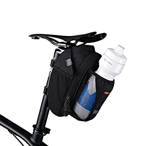 CBR Bike Saddle Bag Seat Post Bag Pack Cycling Wedge with Wattle Bolttle Holder Black