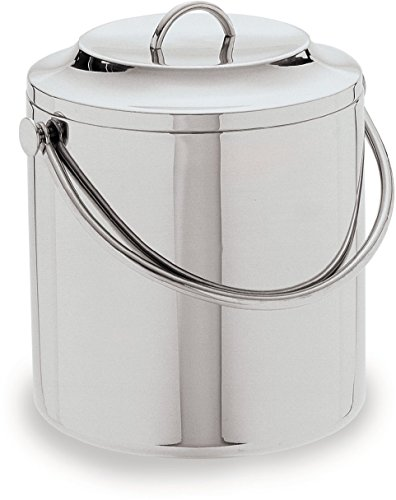 Carlisle 609193 Stainless Steel 18-8 Double Wall Ice Bucket, 3.5-qt. Capacity, 6-1/2'' Height by Carlisle