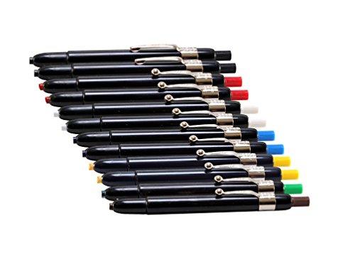 Listo 1620 Marking Pencils, Box of 12, Grease Pencils / China Marking Pencils / Wax Pencils (Colors: Assorted Colors) BONUS: 1 x Orange Listo Marking pencil included.