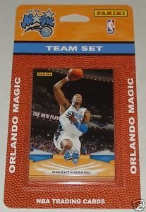 2009 10 Panini Basketball Orlando Magic Complete Team Set of 9 cards including Anthony Johnson, Dwight Howard, JJ Redick, Jameer Nelson, Mickael Pietrus, Rashard Lewis, Vince Carter, Brandon Bass and Matt Barnes !