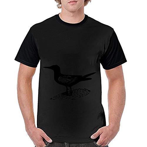 Mens T Shirt,Novelty Men 3D Tern Bird Water Shorebird Fauna Print Summer T Shirt Short Sleeve Tees Slim Fit