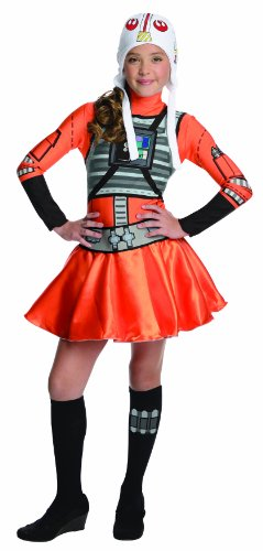 X Wing Fighter Pilot (Star Wars X-Wing Fighter Tween Costume Dress, Medium)