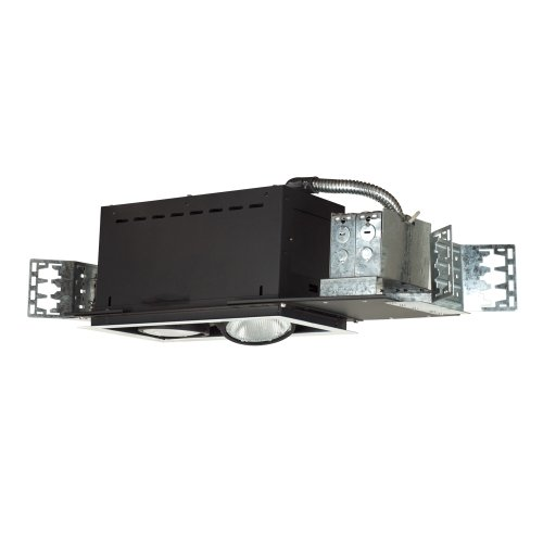 Jesco Lighting MYP30-2WB Modulinear Directional Lighting, Adjustable Yoke PAR30 2-Light Linear, Black Interior With White Trim