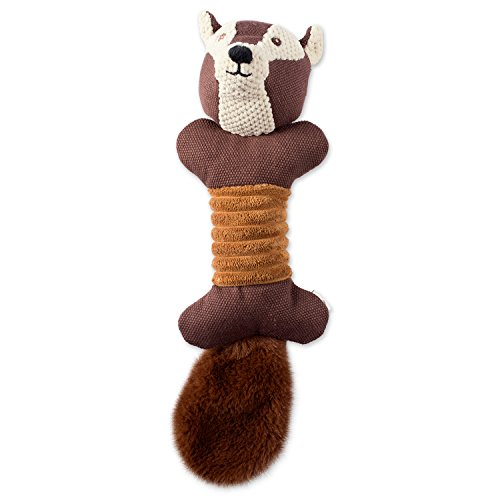 Bone Dry DII Soft Bone Body Squeaking Pet Toy, 1 Piece Jack Squirrel Woodland Friends Toy for Small, Medium and Large Dog (Squirrel Bath Bird Woodland)