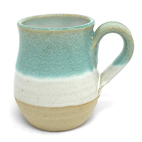 Mosquito Mud Pottery Classic Coffee Mug, Aqua -