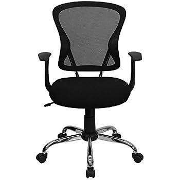 Amazoncom Flash Furniture Mid Back Black Mesh Swivel Task Chair