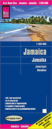 Jamaica Road Map - 2018 - 1:150,000 (English, Spanish, French and German Edition)