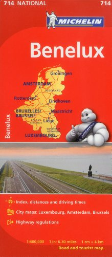 Michelin Benelux Map 714: Belgium, The Netherlands, Luxembourg (Maps/Country (Michelin))