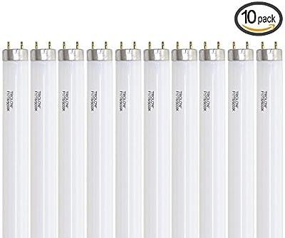 """TriGlow (Pack of 10) F17T8/750 24"""" 17-Watt Straight T8 Fluorescent Tube Light Bulb, N..."""