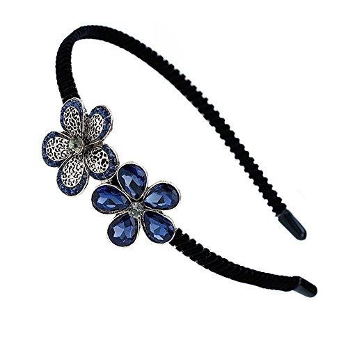 CN'Dragon Fashion Hair Band Rhinestone Hair Accessory (Twin flower)