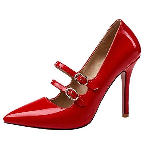 Pointue Escarpins Red Talons Hauts Aiguille Taoffen Femme Sexy Z4qw7PO