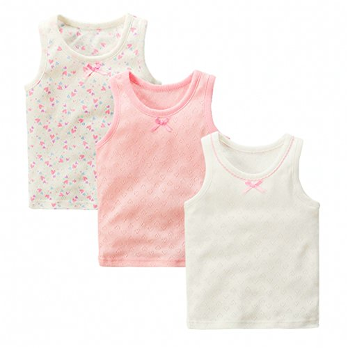 Cotton Baby Undershirt (VeaRin Toddler Little Girls' 3 Pack Tanks Tops Camisoles Undershirts (3T-5T))