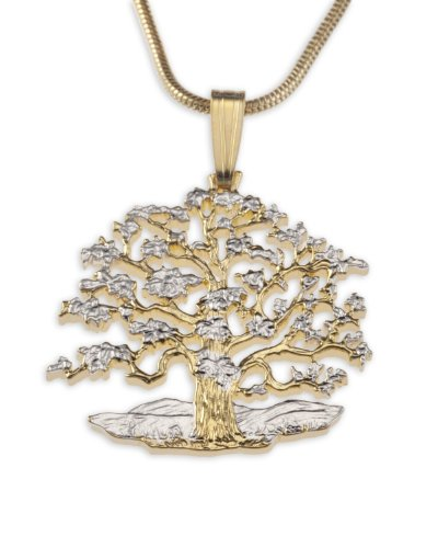 Fao Coin - Tree of Life Pendant & Necklace,by the Difference World Coin Jewelry