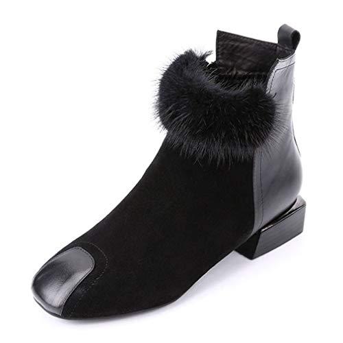 Chelsea Otoño Botines Yan Moda Negro Para Invierno Botas Grueso Antideslizantes Inglaterra Martin Mujer Tacón De wYxgqZzdx