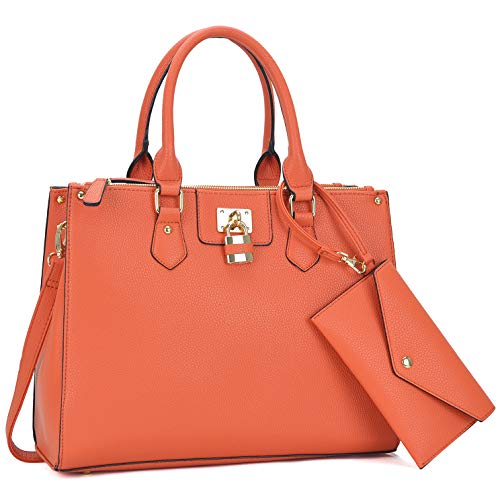 Women Fashion Purses and Handbags Large Tote Bag Shoulder Bag Top Handle Satchel Purse Hobo for Ladies (Coral) ()