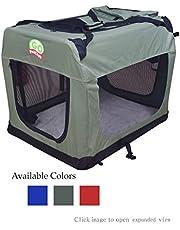 Go Pet Club Dog Pet Soft Crate, 32-Inch, Sage