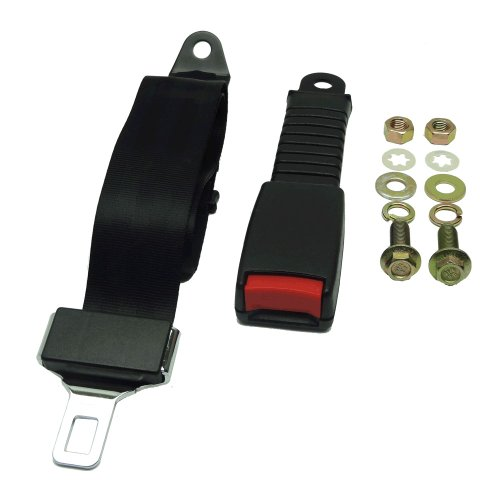 Nonretractable Lap Belts (Universal Seat/Lap Belt Kit For Club Car, Yamaha, And EZGO Golf Cart- 1 Seatbelt)